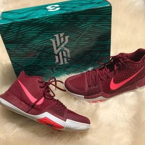 promo code af57c 9eb01 Nike Shoes - Nike Kyrie 3 Men s Bball Shoes Red Hot Punch 9.5